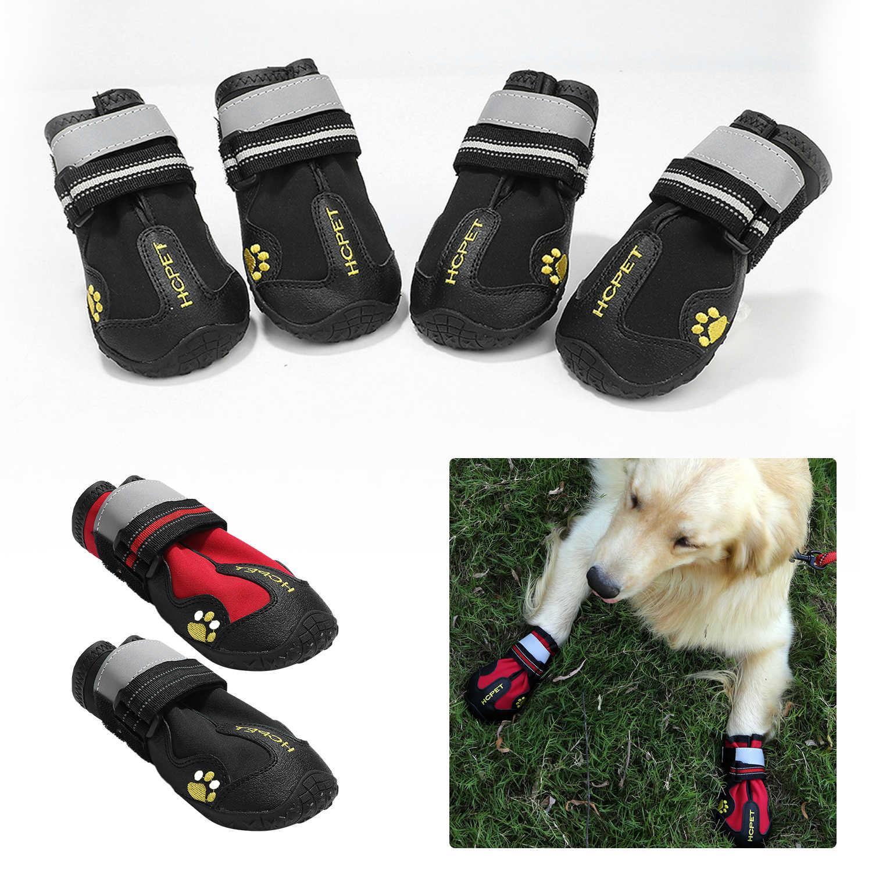 4 Uds. Zapatos reflectantes para perros calcetines botas de invierno calzado de lluvia antideslizante para perros pequeños medianos grandes