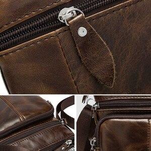 Image 3 - Genuine Leather shoulder bags men Crossbody Bag Designer Natural cowhide Shoulder Bags Vintage Small Flap Pocket Handbag