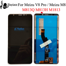 Black/White 5.7 inch For Meizu V8 Pro M813Q / Meizu M8 Global M813H M1813 LCD Display Touch Screen Digitizer Assembly