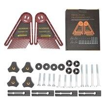 Featherboard Safety Table Saw Push Block Kit Woodworking Engraving Machine Miter Gauge Slot DIY Tools