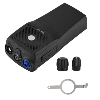 Portable Walkie Talkie Front Case Housing Shell Kit Case Housing Case Replacement With 2 Knobs For Motorola EP4 Black