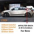 2 шт наклейки Эмблемы автомобилей для Benz W204 C180 C200 W203 w213 w205 w212 AMG CES CLS CLA CLK CLG ГСЛ магистральному значок аксессуары