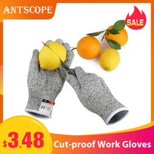 Antscope 1Pair Cut Resistant Gloves Hppe Anti-Cut Glove Work Gloves Protective Finger Kitchen Men Wear-Resistant Safety Gloves19 1pair new arrival 100% kevlar working protective gloves cut resistant anti abrasion safety gloves cut resistant anti cut gloves