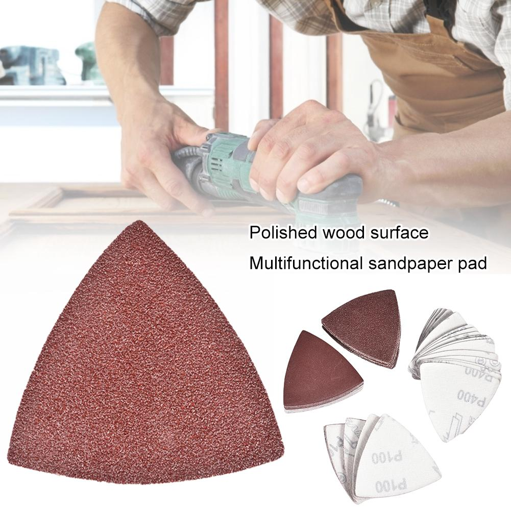 100pcs Sanding Sheets Paper Pads Set Saw Blade Triangle Sander Sandpaper Abrasive Tool Kit For Power Tools Timber Surface Polish