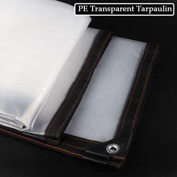 0 12MM zagęścić PE przezroczysty deszczoodporny tkaniny okna wiatroszczelne tkaniny sukulenty DIY szklarnia plandeki samochodowe żagle tanie i dobre opinie Tewango CN (pochodzenie) Odcień żagle obudowa nets NNW-HBTMFYB1X1M Powlekane PCV Rainproof Cloth 140g m2 Transparent