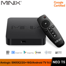 MINIX NEO T5 TV BOX Amlogic S905X2 2G 16G Chromecast Smart TV BOX 4K Ultra HD Google Certified Android TV 9.0 Pie Media Hub rkm mk22 amlogic s912 2g 16g android 6 0 smart tv box tronsmart tsm01
