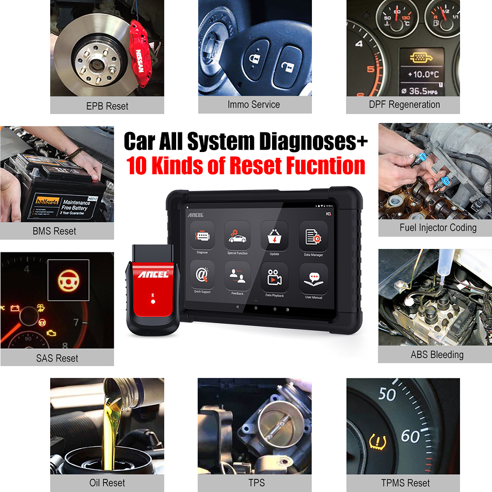 Big SaleΔANCEL OBD2 Scanner Throttle-Injector Car-Diagnostic-Tool Airbag-Reset DPF Bluetooth Full-Systems