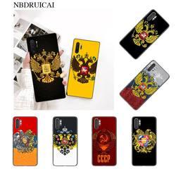 Мягкий чехол PENGHUWAN с российским флагом гербом, черный чехол для телефона, чехол для Samsung Note 3 4 5 7 8 9 10 pro M10 20 30