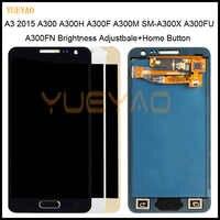 Regolare la luminosità A CRISTALLI LIQUIDI Per Samsung Galaxy A3 2015 A300 A3000 A300F A300M Display LCD + Touch Screen Digitizer Assembly + tasto Home