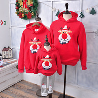 Red Nose Deer Christmas Family Set Casual Tops Father Mother Toddlers Clothes Xmas Family Clothing Family Matching Outfits WY09