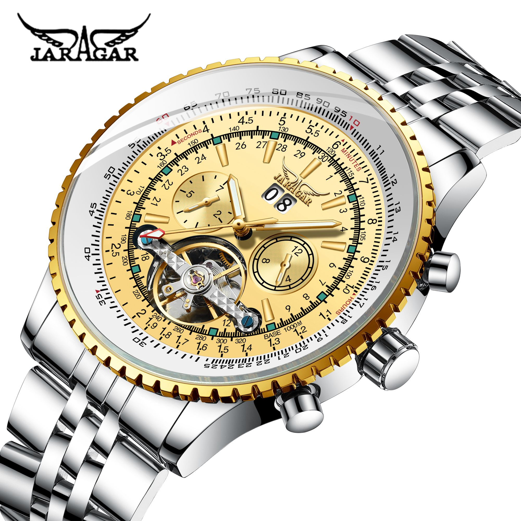 Automatic Mechanical Watch Jaragar Men Watches Unique Dial Design Watches for Men Relogio Masculino Male Clocks Digital Gifts