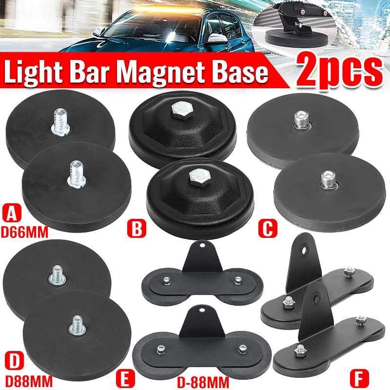 Voiture puissante Base magnétique support de montage support de lampe LED travail barre lumineuse aimant ventouse pour Offroad SUV ATV UTB pick-up