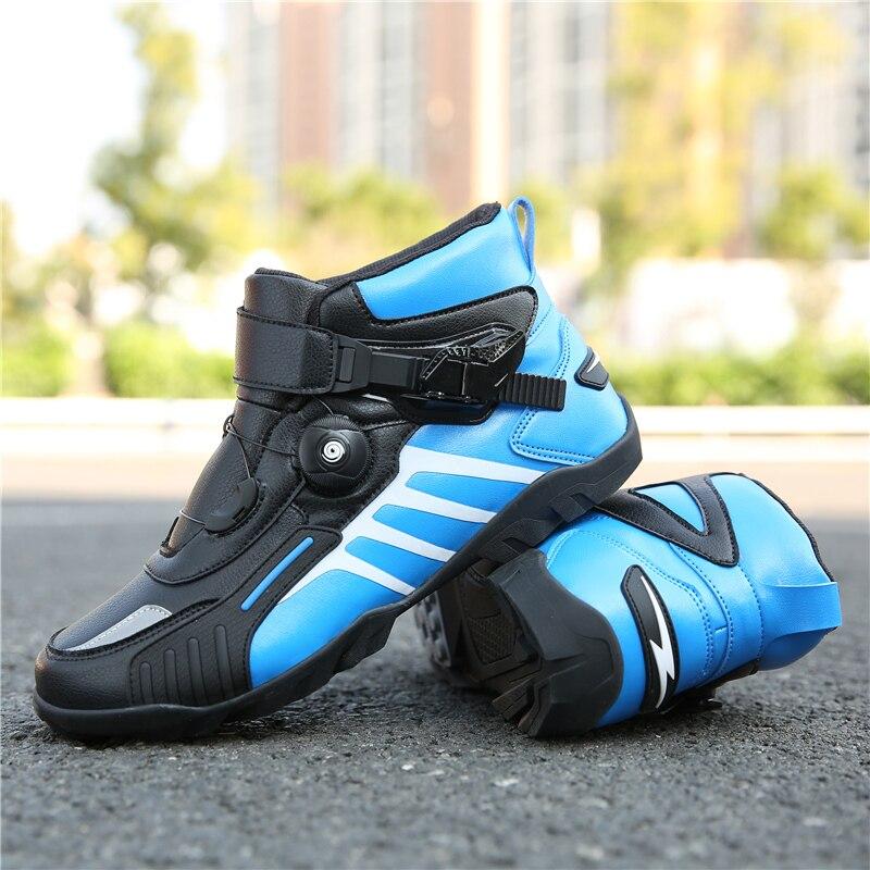 Hommes Profession moto bottes cheville Motocross bottes de course microfibre cuir hors route bateaux à moteur moto/Motocross chaussures