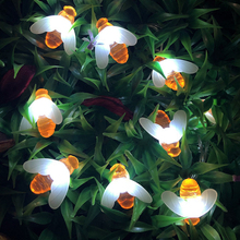 20LED/30LED/40LED Bee Shaped LED String Lights Battery Operated Christmas Garlands Fairy For Holiday Party Garden Decor