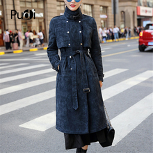 PUDI CT932 women winter warm 100% real sheep fur skin jacket lady genuine inside garment  girl coat overcoat