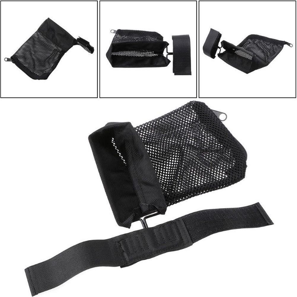Hunting Tactical Military Shooting Brass Catcher Mesh Zipper Shell Trap Around Bag Wrap Catcher M0H6