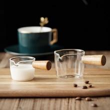 Mini Glass Milk Cup Creamer Jug Multi-Functional Seasoning Dish Small Glass Coffee Milk Pitcher Vinegar Sauce Cup With Handle