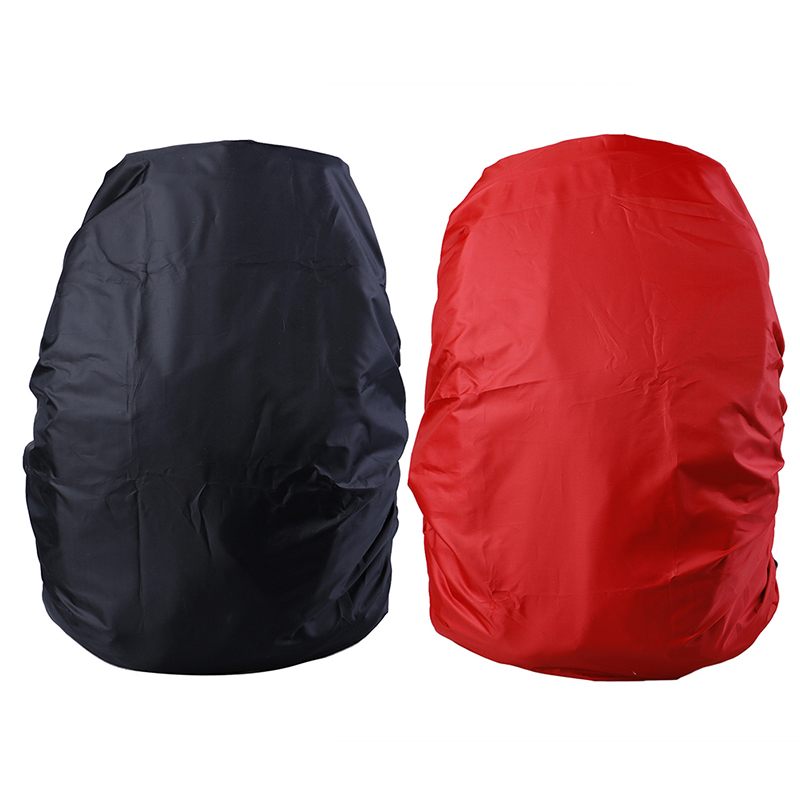 1pc Adjustable Waterproof Dustproof Backpack Rain Cover Portable Ultralight Shoulder Protect Outdoor Tools Hiking Black/Red