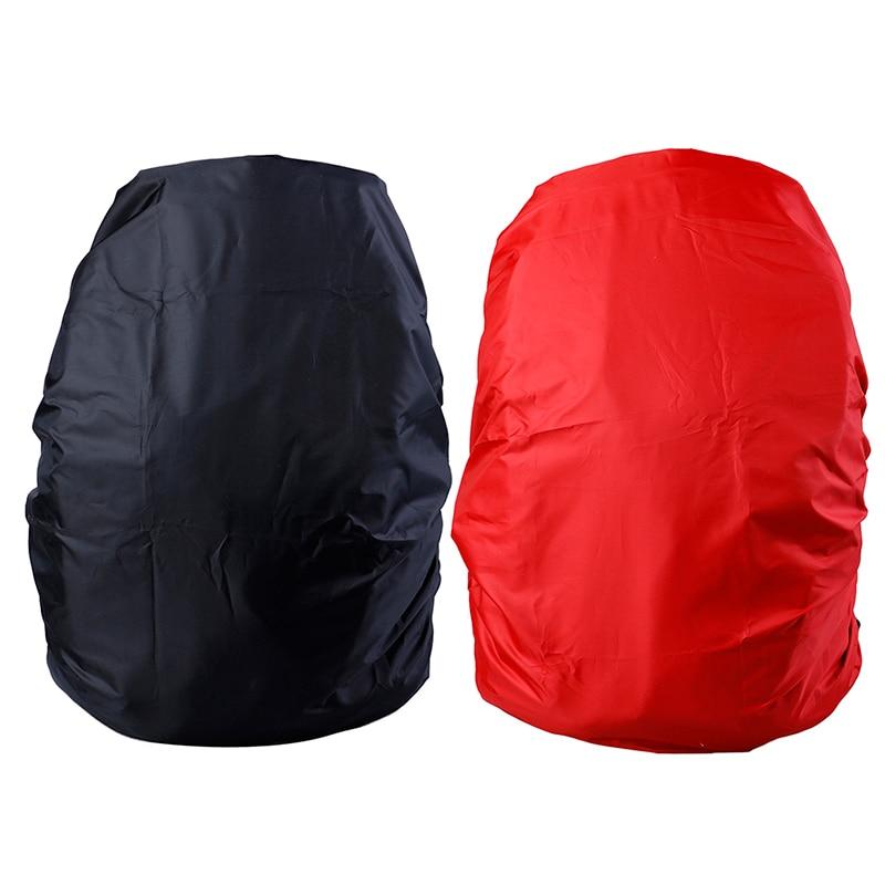 1pc Adjustable Waterproof Dustproof Backpack Rain Cover Portable Ultralight Shoulder Protect Outdoor Tools Hiking Black/Red