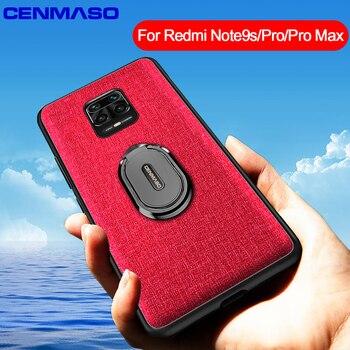 Antiurto Capa per la Nota Redmi 9S 9 Pro Max per il Caso di Xiaomi Redmi Nota 7 8 Pro 8T magnetico Supporto da Auto Anello di Stoffa Piena Caso Della Parte Posteriore