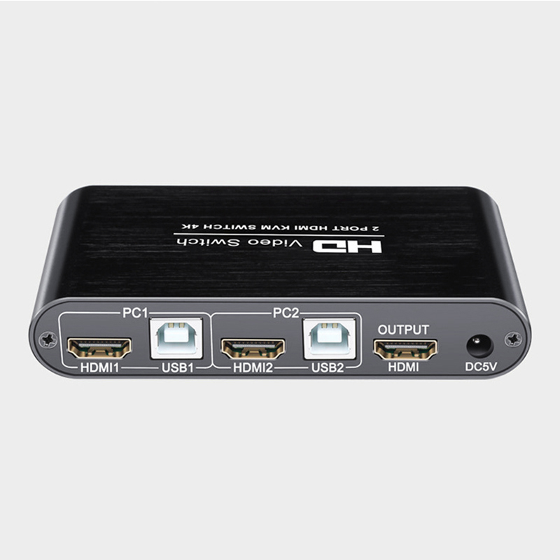 2 Port 4K USB HDMI KVM Switcher Video Display Hot Key Switch For PC Laptop NC99