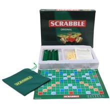 Gioco da tavolo inglese scarabeo gioco di ortesi di parole incrociate per bambini puzzle inglesi tavolo di ortesi tavolo puzzle parole aiuto didattico giocattoli