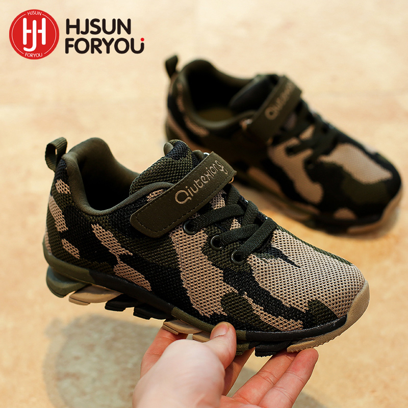 2020 Spring New Brand Children Fashion Kids Camouflage Sneakers Boy Girl Sports Shoes Baby Breathable Casual Shoes