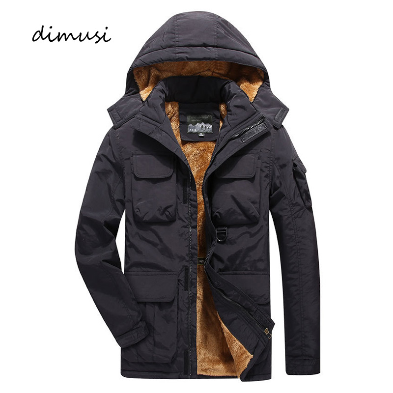 DIMUSI Mens Bomber Jacket Casual Male Fleece Warm Thick Army Tactical Jackets Mens Outwear Breathable Hooded Coats Clothing 7XL