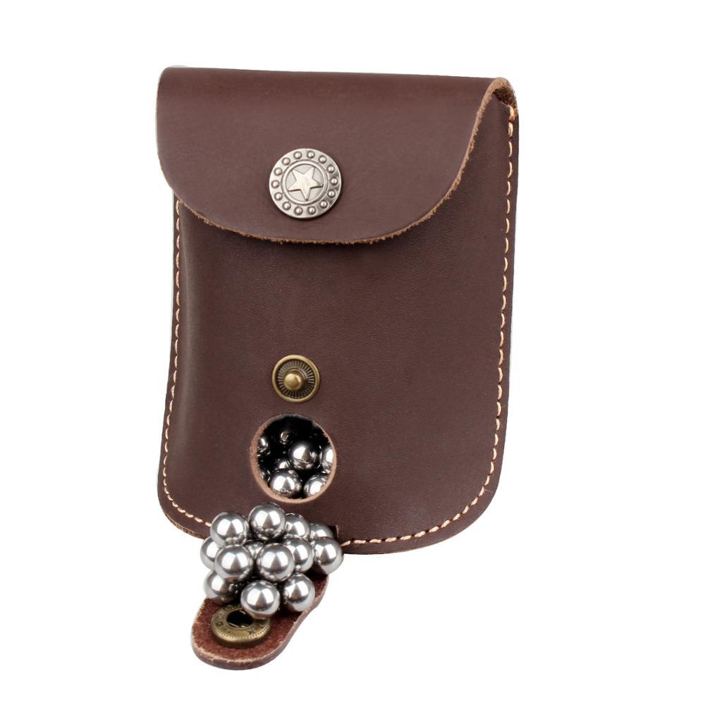 Genuine Leather Slingshot Waist Bag Holster Catapult Pouch Case Hunting Games