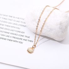 colar vsco Fashion Jewelry Shell Styling Alloy Necklace Mermaid Female Bohemian Conch Sea