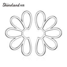 Shineland новинка модные большие Преувеличенные цветок металлические
