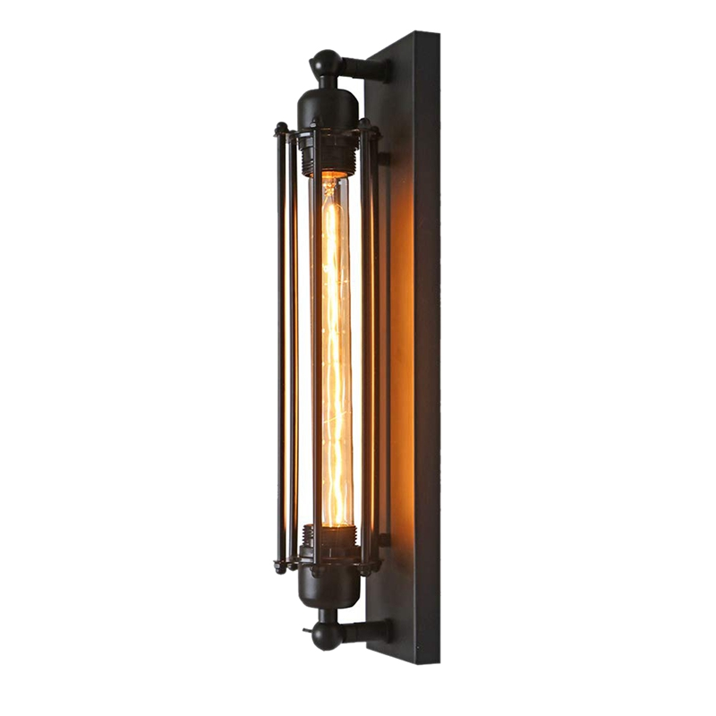 Corridor Wall Lamp, Vintage Industrial Retro Style Lamp, Wrought Iron Wall Lamp E27 (Without Bulb Included) (1PCS)
