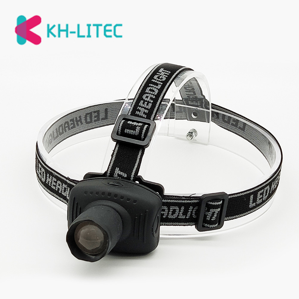 KHLITEC Mini LED Headlamp 3 Modes Head Flashlight Frontal Headlight Torch Lamp For Camping Hunting Night Fishing Using 3xAAA