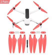 1/2/4 пары Quick Release Propeller лезвия для Hubsan Zino H117S антенна четырехосевой летательный аппарат дрона с дистанционным управлением аксессуары запасные Запчасти