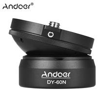Andoer Штативная головка DY-60N штатив Выравнивающая база Выравнивающая Регулировочная пластина для Canon Nikon sony DSLR камера