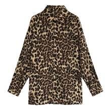 Женские рубашки с леопардовым принтом новинка осенне зимние