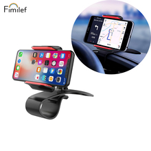 Fimilef Dashboard Car Phone Mount 360 Degree Rotation Adjustable Mobile Clip Stand for Iphone XR in