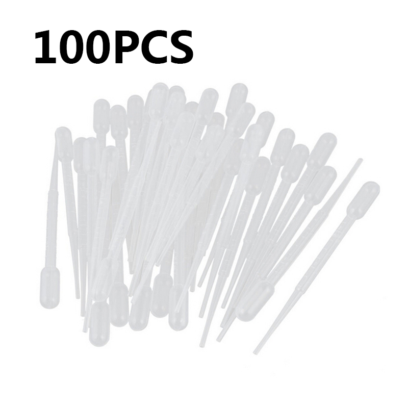 100PCS 0.2ml Plastic Squeeze Transfer Pipettes Dropper Disposable Pipettes For Silicone Mold UV Epoxy Resin Craft Jewelry Making