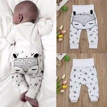 цена 3D Cartoon ear Print Pants 0-2 T Kids Newborn Baby Boys Girls Spring Autumn Long Harem Pants Trousers Leggings Fox Bottoms онлайн в 2017 году