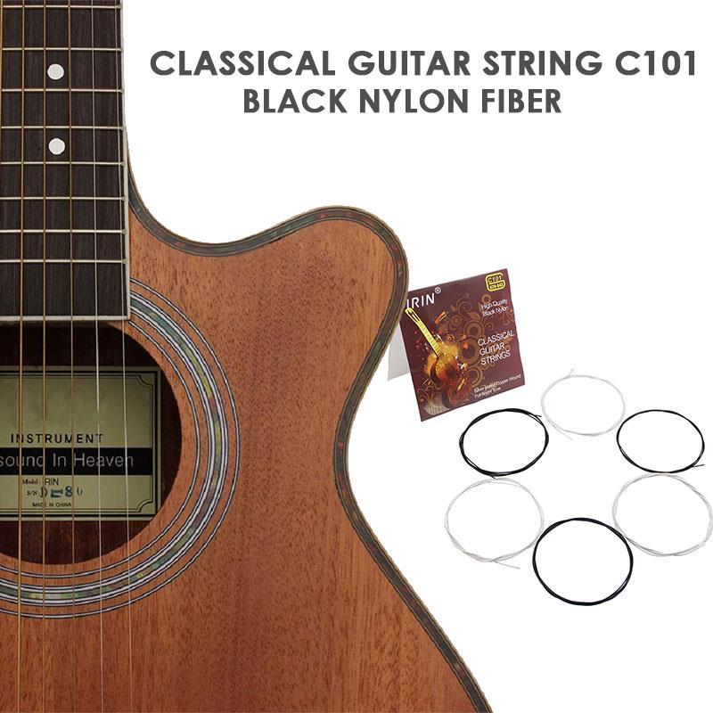 Practical Black Nylon Professional Strings Device Part Guitar Strings Wooden Guitar Strings Rock Music Stringed Instrument
