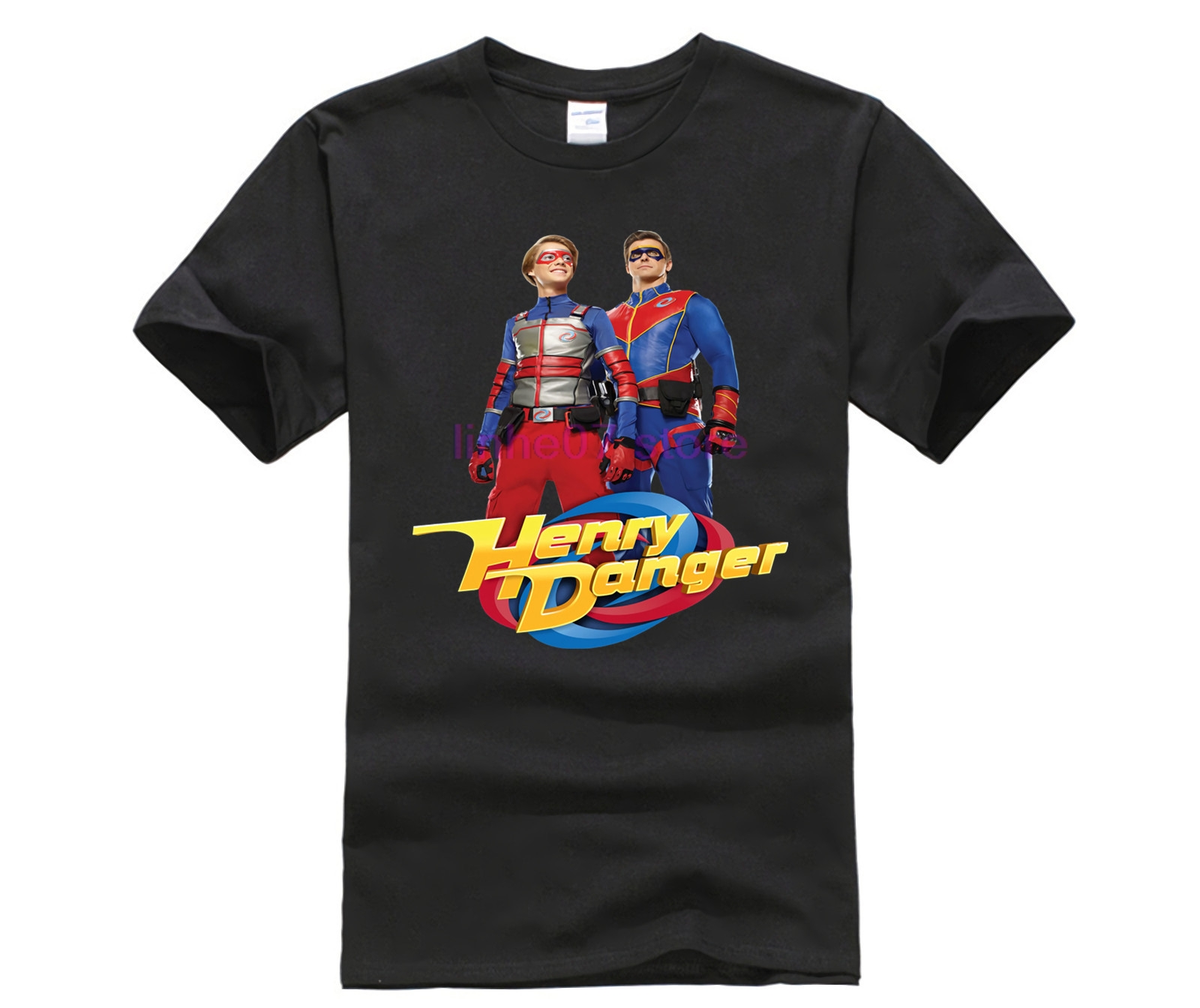 100% Cotton O-neck Printed T-shirt Henry Danger Heroes T-Shirt