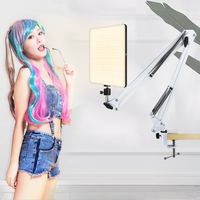10inch led lighting panel with long arm holder 2700k-5700k photography light remote control for live stream video photo lamp