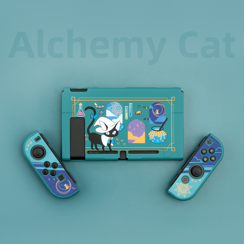 cheapest Geekshare Nintend Switch Shell Alchemy Cat Magic Potion Cartoon Fairy League Hard Cover Back Girp Shell For Nintendo Switch