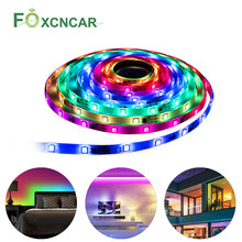 Bluetooth LED Strip Light WS 2811 IC RGB 5050 LED Flexible Light 12V Smart Strip Ribbon Tape HDTV TV Desktop Screen Backlight Bias Lights(China)