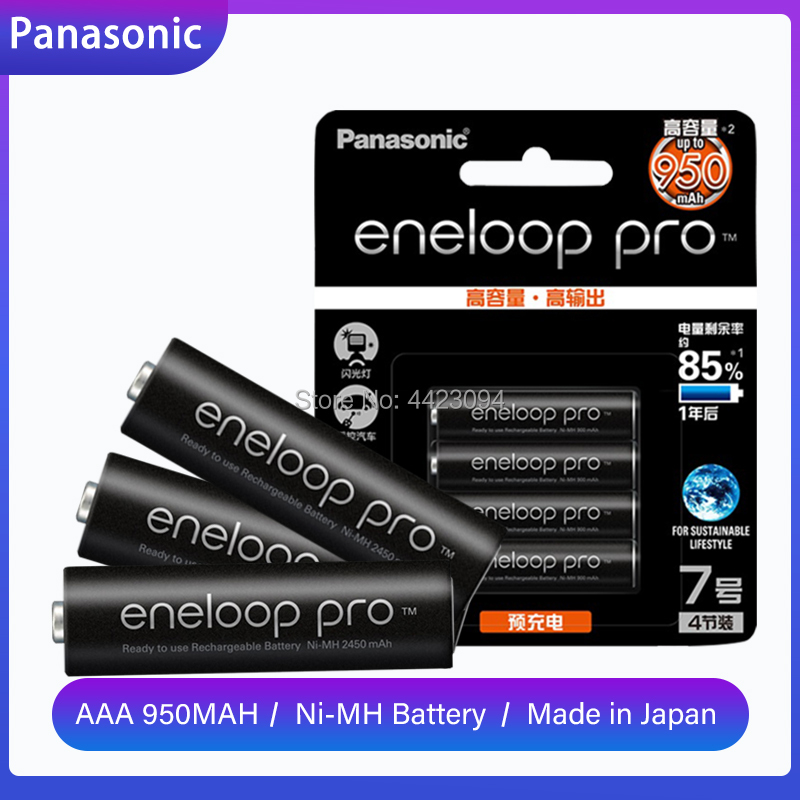 Panasonic Eneloop Pro 950mAh AAA Battery For Flashlight Toy Camera PreCharged High Capacity Rechargeable Batteries