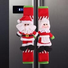 2/4 Pcs Refrigerator Door Handle Cover Christmas Decor Kitch