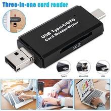 USB3.0 устройство для чтения карт памяти с 3 в 1 usb type C/Micro USB адаптер OTG функция Plug and Play VH99