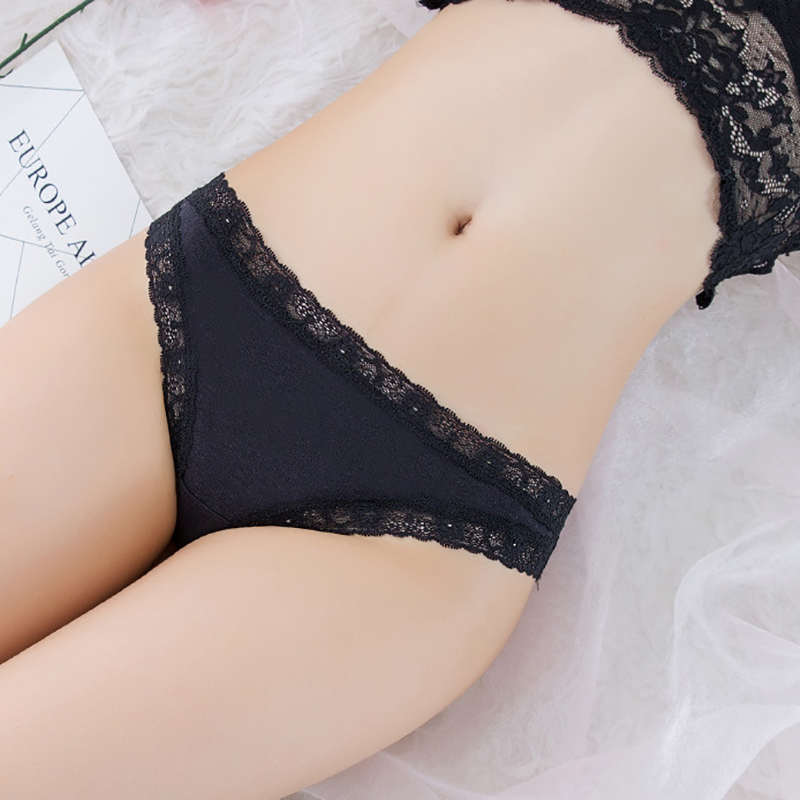 Women Lace Panties G-String Underwear Fashion Thong Sexy Cotton Panties Ladies G-string Soft Lingerie Solid Low Rise Panty