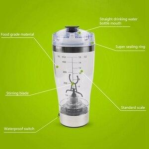 Image 5 - 뜨거운! 450Ml 전기 단백질 셰이커 Usb 셰이커 병 우유 커피 블렌더 물병 운동 소용돌이 토네이도 스마트 믹서