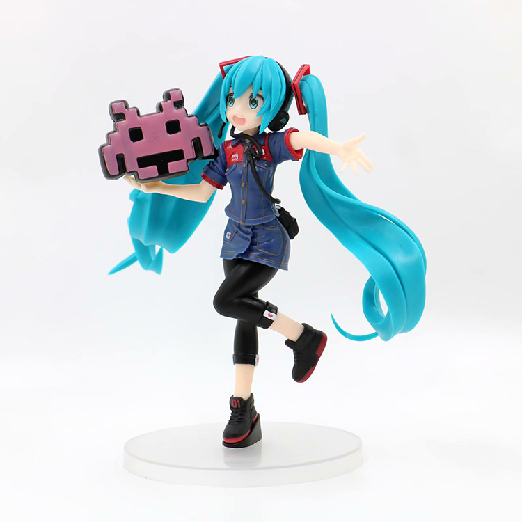 Lensple 20cn Game Taito Station Hatsune Miku Staff uniform Ver PVC Figure Model Dolls VOCALOID Miku Toys Gifts With box(China)